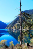 The colorful autumn scenery of Jiuzhaigou national park Stock Photo