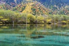Taisho pond, Kamikochi, Japan Royalty Free Stock Photos