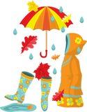 Colorful autumn set Stock Image
