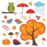 Colorful Autumn Set Royalty Free Stock Photos