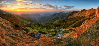 Free Colorful Autumn Sunset In The Mountains Royalty Free Stock Photo - 60983465