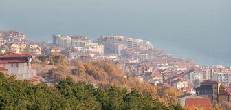 Colorful autumn in Sveti Vlas, Bulgaria Stock Photography