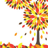 Colorful Autumn tree. Vector illustration Royalty Free Stock Photo