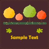 Colorful autumn trees vector card Stock Photo