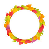 Colorful Autumn Wreath with Copy Space Stock Photography