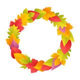 Colorful Autumn Wreath Royalty Free Stock Photo