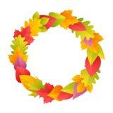 Colorful Autumn Wreath Royalty Free Stock Photo