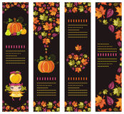 Colorful autumnal banners Stock Images