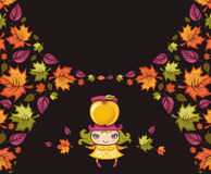 Colorful autumnal banners vector illustration