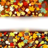 Colorful autumnal design template. EPS 8 Stock Photos