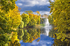Colorful autumnal park, Riga Royalty Free Stock Photo