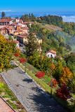 Colorful autumnal village. Royalty Free Stock Photos