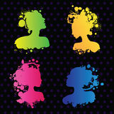 Colorful avatars Stock Images