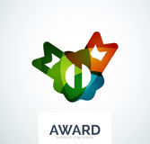 Colorful award business logo. Abstract color shape design royalty free stock images