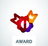 Colorful award business logo. Abstract color shape design stock images