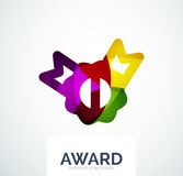 Colorful award business logo. Abstract color shape design Royalty Free Stock Photo