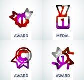 Colorful award business logo set Royalty Free Stock Photos