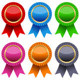 Colorful Award Ribbons Set Stock Image
