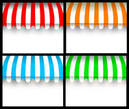 Colorful awning Stock Photos