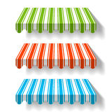 Colorful awnings Royalty Free Stock Photography