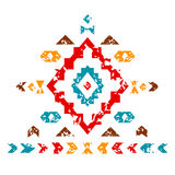 Colorful aztec ornament on white geometric ethnic illustration, vector Stock Image