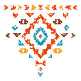 Colorful aztec ornament on white geometric ethnic illustration, vector Stock Images