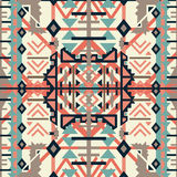 Colorful aztec seamless pattern. Ethnic abstract geometric texture. Hand drawn navajo fabric. Used for wallpaper, web page backgro Royalty Free Stock Photography