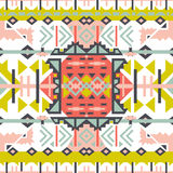 Colorful aztec seamless pattern. Ethnic abstract geometric texture. Hand drawn navajo fabric. Used for wallpaper, web page backgro Stock Photos