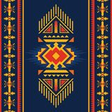 Colorful Aztec seamless pattern. Ethnic geometric ornament royalty free illustration