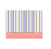 Colorful baby background. Baby background with stripes, for wallpaper or wrap. vector, editable Royalty Free Stock Photography