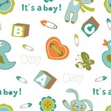 Colorful baby boy pattern Royalty Free Stock Photo