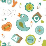 Colorful baby boy pattern Royalty Free Stock Images