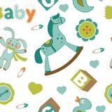 Colorful baby boy pattern Royalty Free Stock Photos