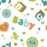 Colorful baby boy pattern Stock Photography