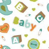 Colorful baby boy pattern Stock Image