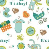 Colorful baby boy pattern Royalty Free Stock Photography