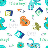 Colorful baby boy seamless pattern Royalty Free Stock Photos