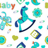 Colorful baby boy seamless pattern Stock Photography