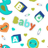 Colorful baby boy seamless pattern Stock Image