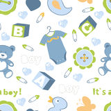Colorful baby boy seamless pattern Royalty Free Stock Images