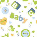 Colorful baby boy seamless pattern Royalty Free Stock Image