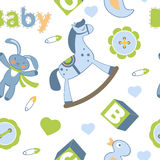 Colorful baby boy seamless pattern Royalty Free Stock Photography