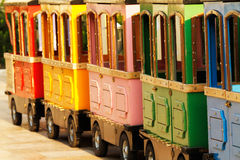Colorful baby carriages Royalty Free Stock Images