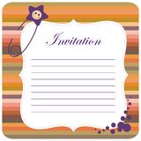 Colorful baby invitation Stock Photography