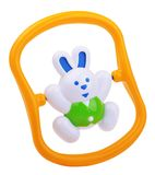 Colorful baby rabbit rattle Stock Image