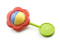 Free Colorful Baby Rattle Royalty Free Stock Photos - 9449468