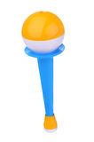 Colorful baby rattle Stock Photos