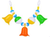 Colorful baby rattle Stock Image