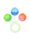 Colorful baby rattle with three balls Stock Images