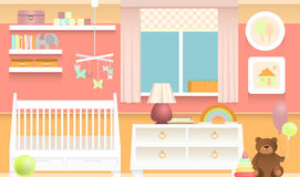 Colorful baby room. Bright and colorful interior of baby room Royalty Free Stock Photography